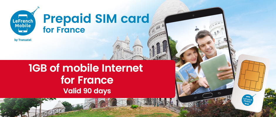 Brand New : French prepaid Data SIM card for France