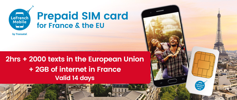 Brand New : French prepaid SIM card, with preloaded Voice and Data bundle